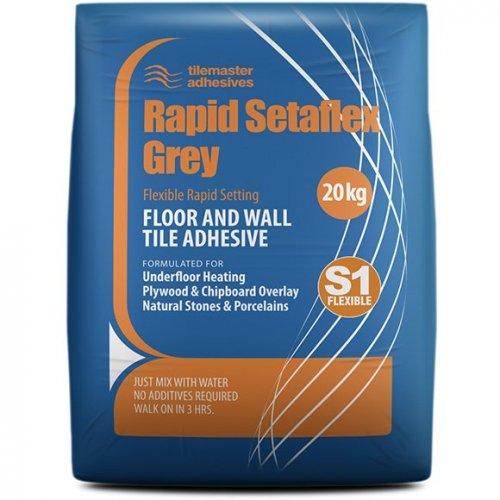 Rapid Setaflex ŠEDÝ - cementové rychle tvrdnoucí, flexibilní lepidlo na obklady, dlažby a kámen