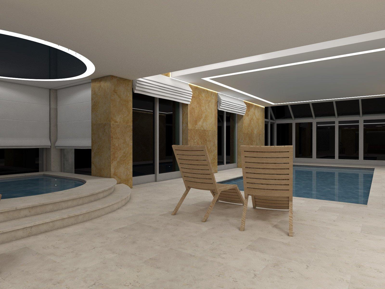 Travertin - ideální dlažba do wellness, spa a dlažba okolo bazénů