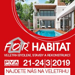 Vystavujeme na FOR HABITAT 21.-24.3.2019 v Praze