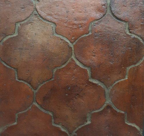 Cihlová dlažba z terakoty, půdovka - Rustikální tvar, barva červená